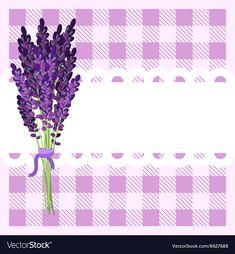Bunch of lavender flowers on tartan backdrop vector image on VectorStock Vector Pop, Texture Vector, Color Vector, Free Vector Images, Vector Free, Glitter Background, Art Background, Rustic Flowers, Vintage Flowers