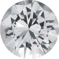1.25mm Round Diamond-cut AA White Sapphire