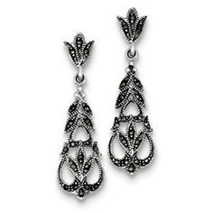 Genuine IceCarats Designer Jewelry Gift Sterling Silver Marcasite Earrings IceCarats,http://www.amazon.com/dp/B007FNSQR4/ref=cm_sw_r_pi_dp_tca8rb1K71F7DFKE