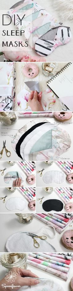 DIY Sleep Masks: The Handmade Bridesmaid Gift of your Dreams | Free Pattern - As a DIY bride, you may have taken on the task of crafting beautiful handmade gifts for your wedding party. We're helping you check that project off your to-do list with DIY Sle