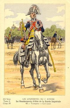 French; Imperial Guard, Gendarmes d'Elite, Trumpeter, 100 Days