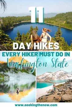 This is the best list of day hikes in Washington State I have found yet! I cannot wait to get out and start doing these easy hikes in Washington! Washington Camping, Washington State, Adventure Aesthetic, Wanderlust, Adventure Travel, Adventure Quotes, Adventure Photography, Day Hike, Simple
