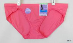 Barely There Bikini Panties Pink Sz XL 8 84% Nylon, 16% Spandex Solid Invisible www.bevsthisnthatshop.com