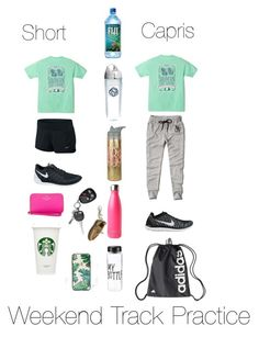 """Weekend Track Practice!!"" by mpfurgason on Polyvore featuring Abercrombie & Fitch, NIKE, Tervis, S'well, Sperry Top-Sider, Kate Spade and Sonix"