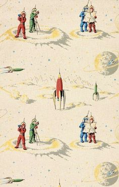 Astronaut wallpaper  Cooper-Hewitt Object of the Day