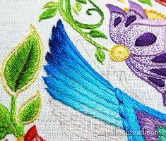 Secret Garden Hummingbirds: Embroidered Feathers