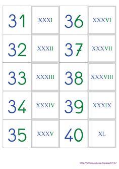 Un jeu de cartes pour apprendre et mémoriser les chiffres romains.