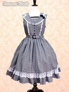 Innocent World - Amy Checkered Jumperskirt /// ¥22,890 /// Bust:  86-105cm Waist:  63-77cm Length:  93cm (includes 12cm of frills)