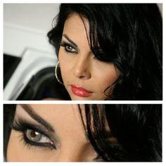 Haifa Wehbe - contact lenses
