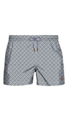 Obsessed with the retro feel of these swim trunks!
