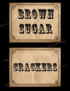 Brown Sugar and Crackers Label