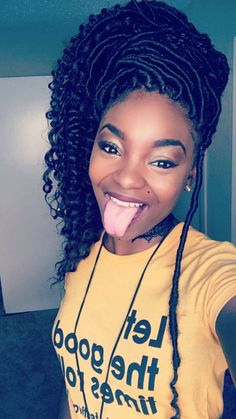 Goddess locs are one of the most popular protective hairstyles out today, loved for their versatility and natural appearance. Here are 55 goddess locs styles. Faux Locs Hairstyles, My Hairstyle, African Hairstyles, Girl Hairstyles, Protective Hairstyles, Protective Styles, Fashion Hairstyles, Casual Hairstyles, Trending Hairstyles