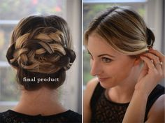 Braided Hair Updo Tutorial. Wow this is amazing, such a pretty hairdo, great Tutorial.. :))