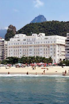 Iconic Copacabana Palace, Rio de Janeiro, Brazil.