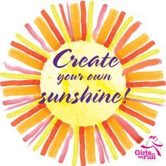 Girls on the Run of Stark County inspires through grade girls to create their own sunshine. Stark County, Book Cover Design, Portfolio Design, Create Your Own, Amy, My Design, Sunshine, Website, Girls