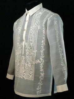 Raya Barong Tagalog - Barongs R us Suit Up, Suit And Tie, Barong Tagalog Wedding, Man Dress Design, Filipiniana Dress, Philippines Fashion, Guayabera Shirt, Bespoke Shirts, Men With Street Style