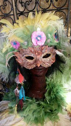 Bandeau plumes de carnaval des Antilles par claudeplume sur Etsy