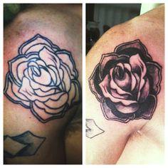 rose tattoo I've done