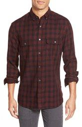 French Connection 'Route' Trim Fit Long Sleeve Plaid Sport Shirt