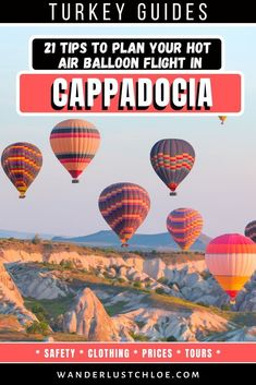 Make the most of your holiday in Cappadocia! From when to visit and how to book, to what to expect and wear on the day, these these tips will help you plan your Cappadocia hot air balloon experience. #cappadocia #turkey #hotairballoon #cappadociaflight #traveltips #adventuretravel #travelphotography #amazingdestinations #travelinspiration
