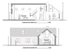 This contemporary extension to a bungalow has completely updated and modernised a family home. Bungalow House Design, Modern House Design, Old School House, Extensions, Irish, House Plans, Homeschool, Home And Family, Old Things