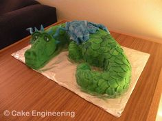 how to make a dragon cake | Green Dragon Cake by ~cake-engineering on deviantART