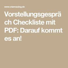 experten checkliste fr bewerbungs profis vorstellungsgesprch checkliste mit pdf - Generator Bewerbung