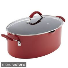 Satisfying pasta meals are easy to prepare using the Rachael Ray Cucina Hard Enamel Nonstick 8 qt. Covered Oval Pasta Pot with Pour Spout. Curated by Rachael Ray for warmth and hospitality, the modern rustic design of the cookware enhances every cook Pasta Pot, Pasta Meals, Red Pasta, No Noodle Lasagna, Cookware Set, Rustic Design, Kitchenware, Kitchen Dining, Desert Recipes