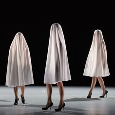 Fashion designer Hussein Chalayan has created elasticated costumes and sequinned garments for performers in his first self-directed dance production