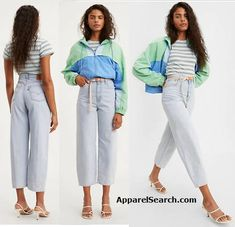Balloon Jeans are the new style from Levi's. Flattering high rise with dramatic curves at the hip that tapers at the leg. Space Fashion, 80s Fashion, Fashion Photo, Trendy Fashion, Fashion News, Uniform Design, Fashion Sites, Fashion Images, Slim Jeans
