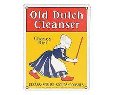 Placa Old Dutch Cleanser - 23x30cm