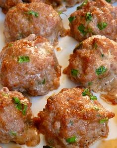 Asian Turkey Meatballs with Lime Sesame Dipping Sauce...ground turkey combined with scallions, cilantro, sesame oil, ginger, and soy sauce. So AMAZING!!