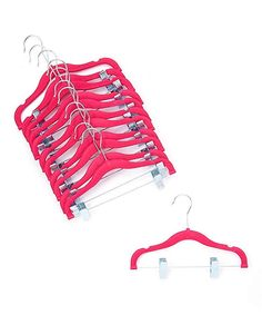 """A1-hangers 12 PACK Kids hangers with clips PINK (13"""" length) baby Clothes Hangers Velvet Hangers use for skirt hangers Clothes Hanger pants hangers Ultra Thin No Slip kids hangers Review"""