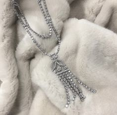 tassels, tassels, and more tassels! . . . #heartsonfire #necklace #tassels #diamonds #gift #present #jewelry #love #obsessed #newyear #holiday #snow #snowday  #friday #friyay #weekend #weekendwear #tgif #nofilter #picoftheday #aotd #ootd #fashion #fashiondiaries #style #stylist #statementnecklace #wiwn #widn #trending #trend #classic #blog #blogger #style #luxury