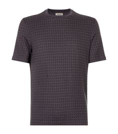 Armani Collezioni Square Pattern T-shirt In Grey Joey Tribbiani, Simple Designs, Bomber Jacket, Grey, Casual, Pattern, Mens Tops, How To Wear, T Shirt