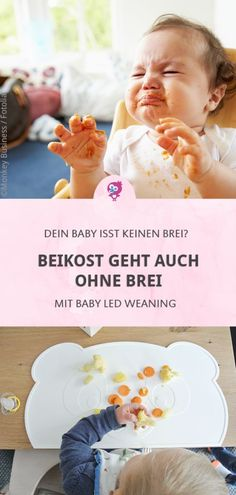 Baby led weaning: Alles, was Du wissen musst Beef-free – What are the advantages of feeding your baby? And does baby led weaning involve risks? Find out all about baby led weaning in this article. Homemade Baby Foods, Homemade Cookies, Baby Led Weaning, Big Wedding Cakes, Baby Massage, Baby Hacks, Mom Hacks, Baby Tips, Baby Food Recipes