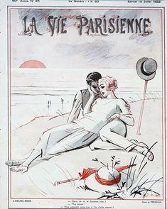 René Préjelan (1877 – 1968). La Vie Parisienne, 15 Juillet 1922. [Pinned 7-viii-2020] Painters, Authors, Illustrators, Postcards, Magazine, Artists, Retro, Cover, Movie Posters