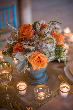 Going low doesn't have to mean boring. Browse our picks of 60 blooming-perfect low centerpieces that will inspire you to create your own fab wedding centerpieces - with almost any container. Winter Centerpieces, Winter Wedding Decorations, Floral Centerpieces, Table Centerpieces, Flower Decorations, Wedding Centerpieces, Floral Arrangements, Centerpiece Ideas, Centrepieces