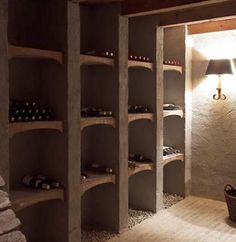 Love the lighting in this wine cellar