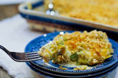 This quick and easy chicken dinner has all the flavors of your favorite deli salad, but is served as a bubbling hot casserole. Hot Chicken Salad Casserole is a cheesy, creamy recipe for chicken casserole that is perfect for any night of the week. Hot Chicken Salads, Chicken Salad Recipes, Dinner Recipes Easy Quick, Quick Meals, Weeknight Recipes, Easy Dinners, Recipes Dinner, Dinner Ideas, Simple Recipes