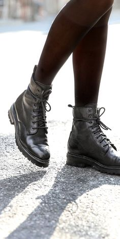 Julie Combat Boots | The Frye Company Frye Boots, Combat Boots, The Frye Company, Goodyear Welt, Italian Leather, Style Guides, Autumn Fashion, Skor, Prophetic Art