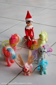 My Little Pony Reindeer 25+ MORE Elf on the shelf ideas - NoBiggie.net