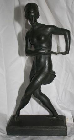 Original-Art-Deco-Bronze-Nude-Sculpture-Statue-German-Ferdinand-Liebermann