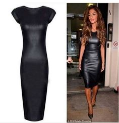 Mary Jane Wholesale Wet Look Body con Dress
