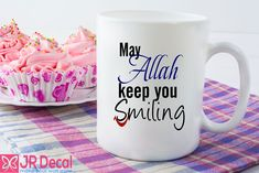 May Allah Keep you Smiling Islamic Printed Mug everyday blessing. Islamic mug Morning coffee mug Muslim gift, Novelty Eid gift, Islamic gift ideas for Her and him Ramadan Gifts, Eid Gift, Best Teacher Ever, Thank You Teacher Gifts, Novelty Mugs, Mug Printing, Islamic Gifts, Dad Mug, Mug Designs