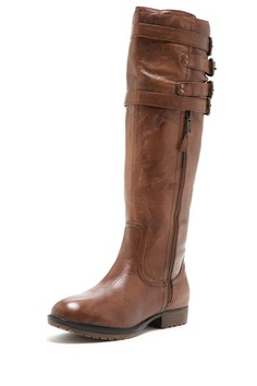 Steve Madden: Mikel Leather Buckle Flat Boot