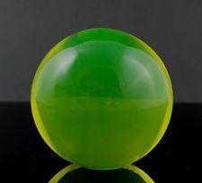 2 1/3'' Czech Yellow Uranium Vaseline Art Glass Globe PAPERWEIGHT