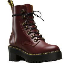 Women's Dr. Martens Leona 7-Eye Hiker Boot - Oxblood Vintage Smooth Leather with FREE Shipping & Exchanges. The Dr. Martens Leona 7-Eye Hiker Boot is the perfect balance of femininity