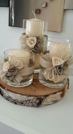 minutes simple christmas candles decoration – Welcome My World Christmas Wedding Centerpieces, Christmas Candle Decorations, Christmas Candles, Diy Centerpieces, Table Decorations, Homemade Decorations, Wedding Decorations, Simple Christmas, Winter Christmas