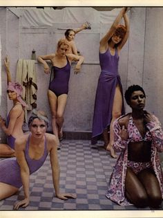 "Deborah Turbeville ""Bath House"" in Vouge Us 1975"